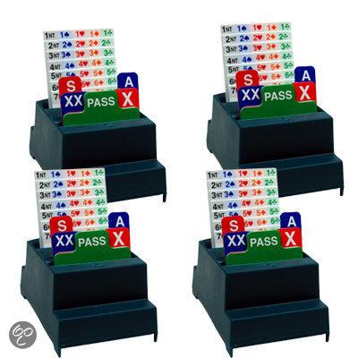 Afbeelding van het spel Set van 4 Bridge Biddingboxen NBB, groen