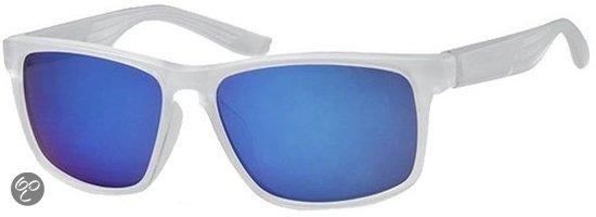 eb610fd96501ee Vdm Heren Wayfarer - Zonnebril - Wit   Blauw