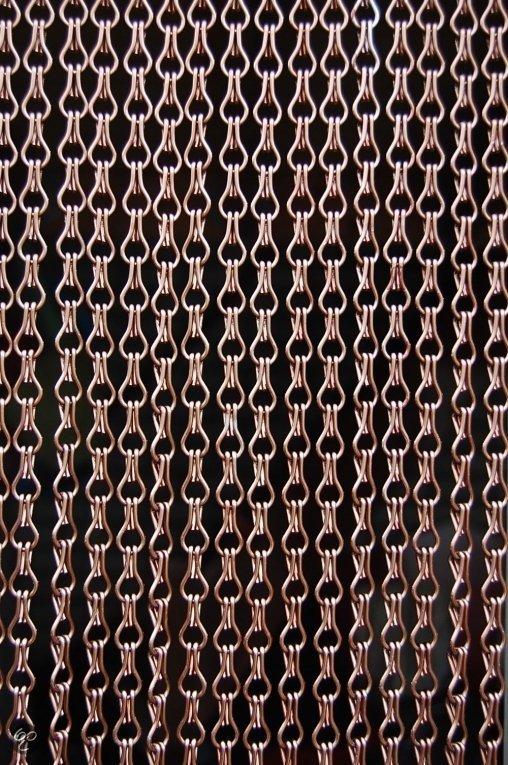 bol.com | Sun-Arts Vliegengordijnen - Deurhor kettingen brons(bruin)