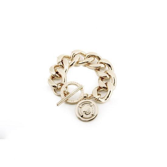 TOV Essentials Small Flat Gourmet Bracelet - Armband - Champagne goudkleurig - 19cm