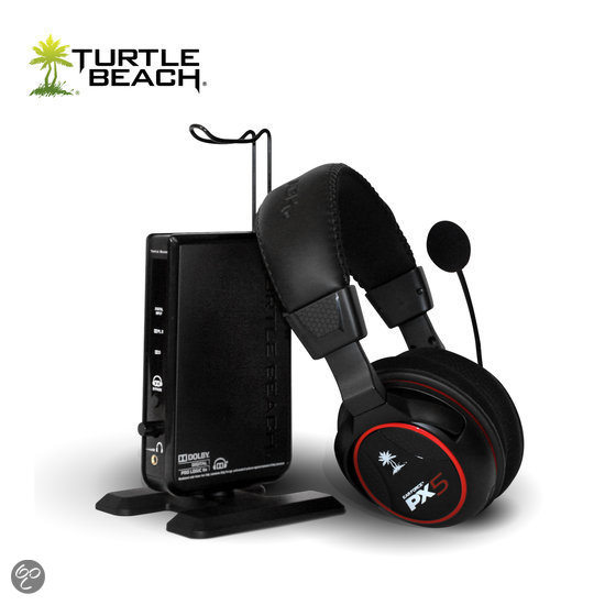 Turtle Beach Ear Force PX5 Wireless 7.1 Virtueel Surround Gaming Headset - Zwart (PS3 + Xbox One + Xbox 360)