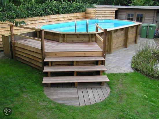 Houten zwembad compleet tuin - Houten strand zwembad ...