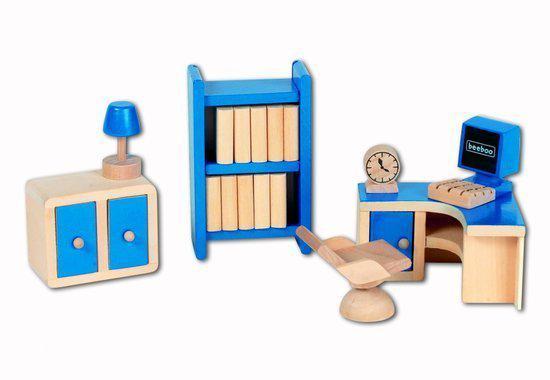 Beeboo houten bureaukamer voor poppenhuis - Houten bureau voor kinderen ...