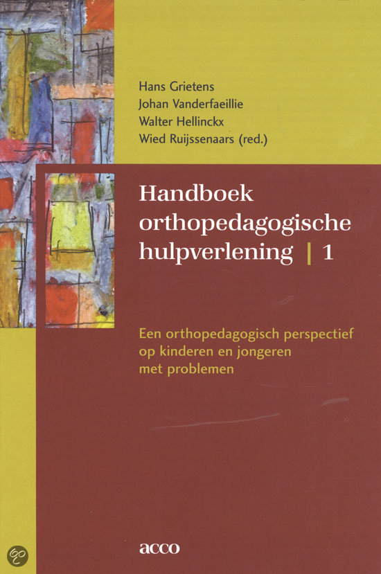 handboek orthopedagogische hulpverlening / 1