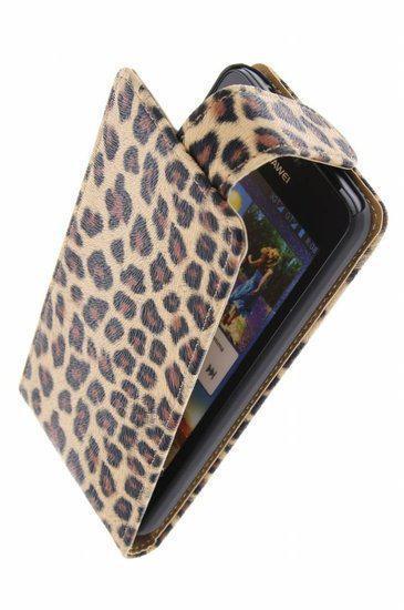 Alternate Classic Flip Case Cover Cover Huawei Ascend G510 Luipaard Bruin in Eemster