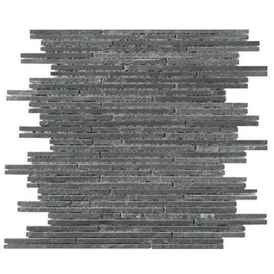 Alfa mosaico mozaiek m rmol antraciet marmer sticks interlock antraciet prijs per - Deco mozaieken badkamer ...