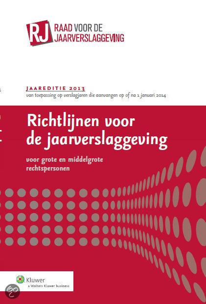 Richtlijnen voor de jaarverslaggeving / 2013