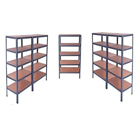 vidaxl wandkast stellingkast 180x90x45 cm 5 stuks. Black Bedroom Furniture Sets. Home Design Ideas