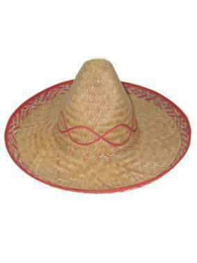 Sombrero naturel met gekleurde rand