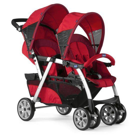 chicco together tweeling kinderwagen rood. Black Bedroom Furniture Sets. Home Design Ideas