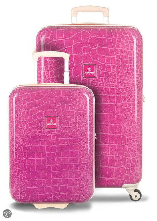 suitsuit pink crocodile kofferset roze. Black Bedroom Furniture Sets. Home Design Ideas