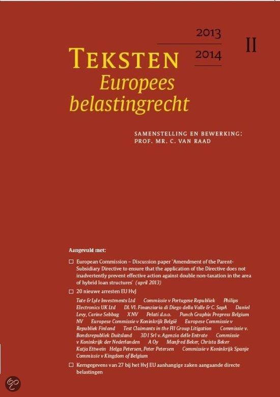 Teksten Europees belastingrecht / 2013/2014