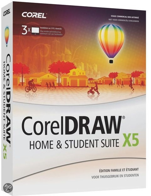Coreldraw Graphics Suite X5 Home & Student - 3 licenties / Nederlands