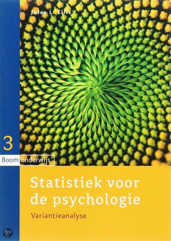 Statistiek Voor De Psychologie / 3 Variantieanalyse