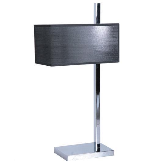 tafellamp metaal chroom kap antraciet grijs modern design. Black Bedroom Furniture Sets. Home Design Ideas
