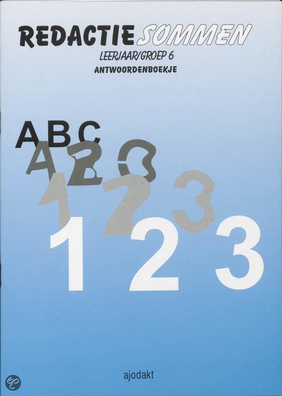 bol.com | Redactiesommen / Groep 6 / Deel Antwoorden, A. Holster & J ...