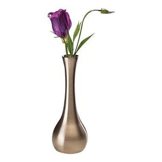 Vaas met RVS look - ø6 -5 x 18 cm