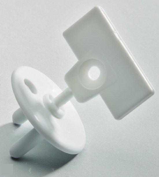 Safety 1st - Stopcontactbeschermers Met Sleutel - Wit