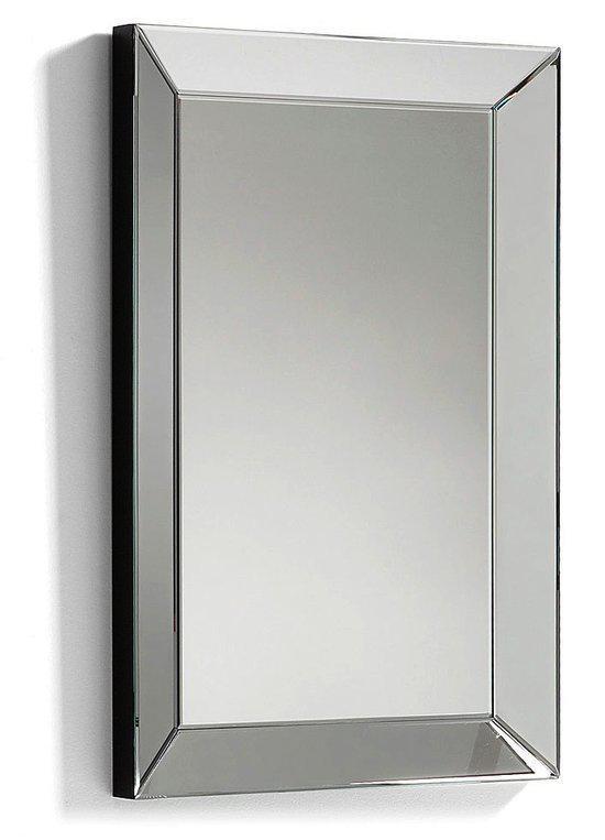 Laforma lena spiegel glas 90x60 cm zilver for Spiegel 90x60