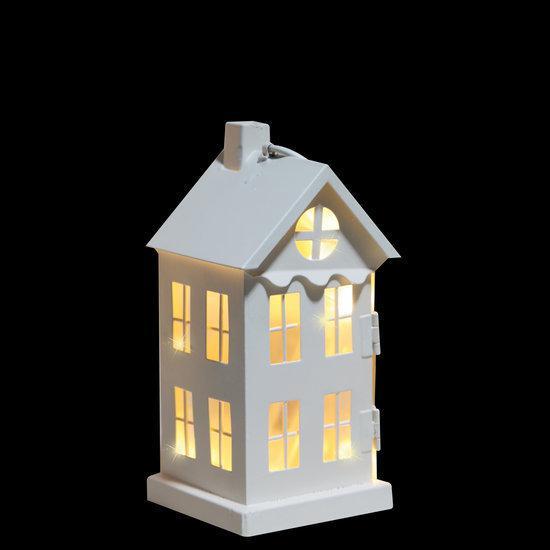 bol.com | Luca Lighting - Metalen Huisje met LED verlichting - Wit