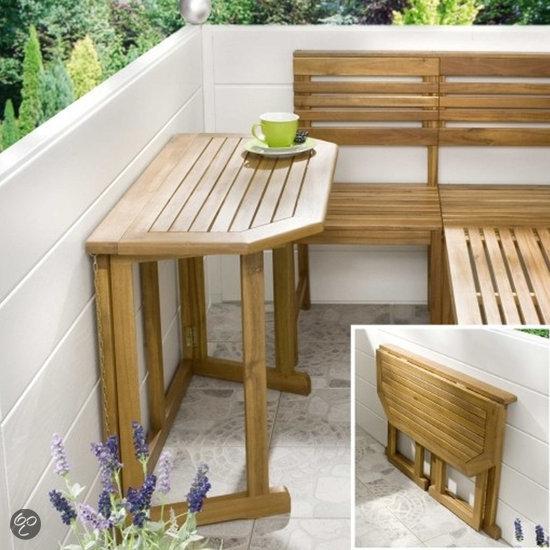 bol com   Tri Colore Design Tuintafel voor balkon Acaciahout 64004
