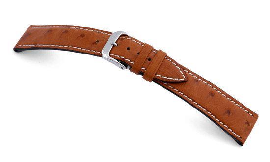 Rios1931 Horlogeband -  Maxime Cognac  - Leer - 20 mm