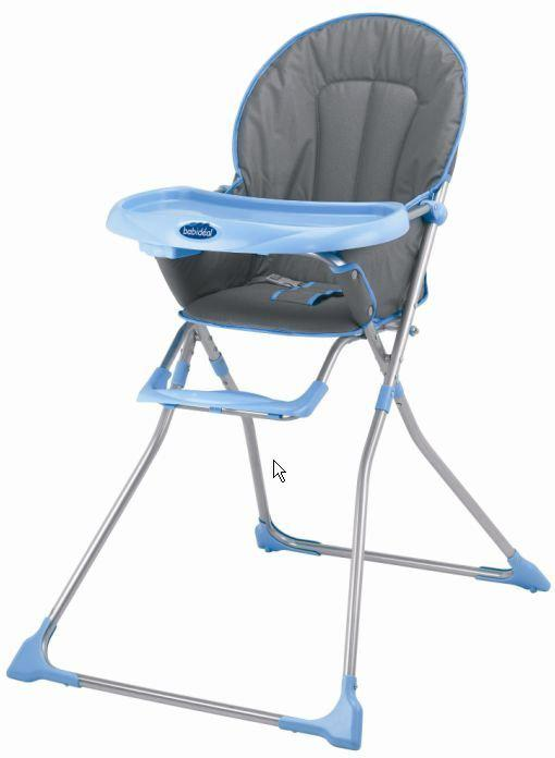 Babidéal Kinderstoel Enka - grijs/lichtblauw