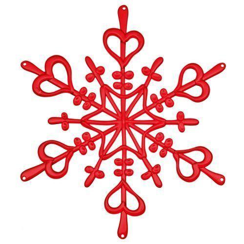 bol.com : Koziol Ornament Flake Kerst - Helder Rood