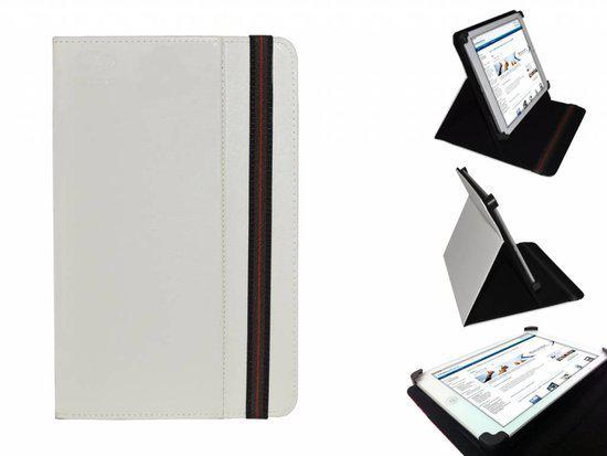 Uniek Hoesje voor de Aluratek Cinepad At107f - Multi-stand Cover, Wit, merk i12Cover in Wormerveer