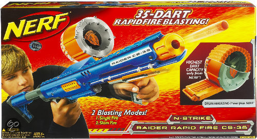 Nerf N-Strike Raider Rapidfire Cs-35 - Blaster