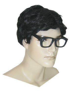 Herenpruik met bril zwart