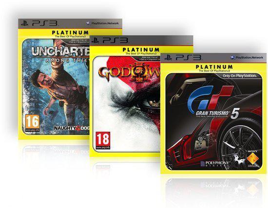 Essentials Voordeel verpakking God of War 3 + Gran Turismo 5 + Uncharted 2 kopen