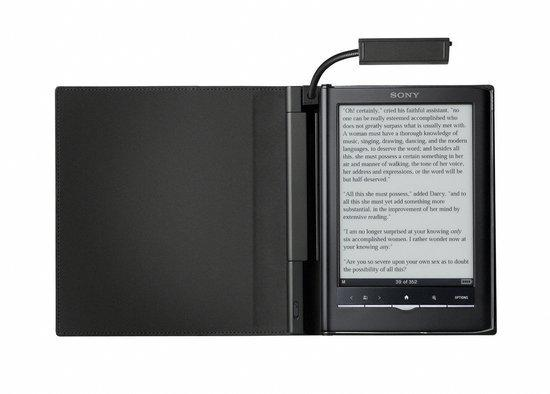 Sony Reader Touch LED cover met lampje (PRSACL65B) - Black