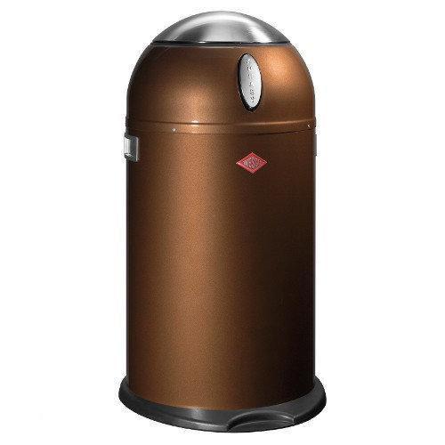 Wesco Kickmaster 33 Liter Bruin.Wesco Kneasy Vuilbak 33 L Chocolate Brown