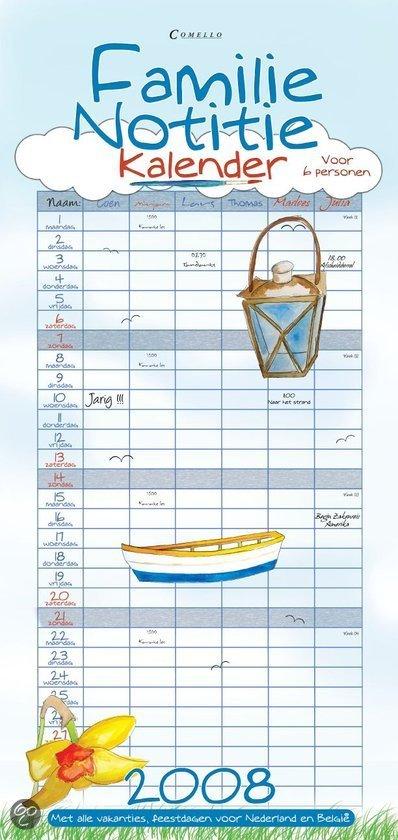 familie notitie kalender 6 personen 45x21. Black Bedroom Furniture Sets. Home Design Ideas