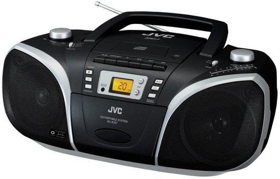 jvc rcez57 portable radio cd speler zwart. Black Bedroom Furniture Sets. Home Design Ideas