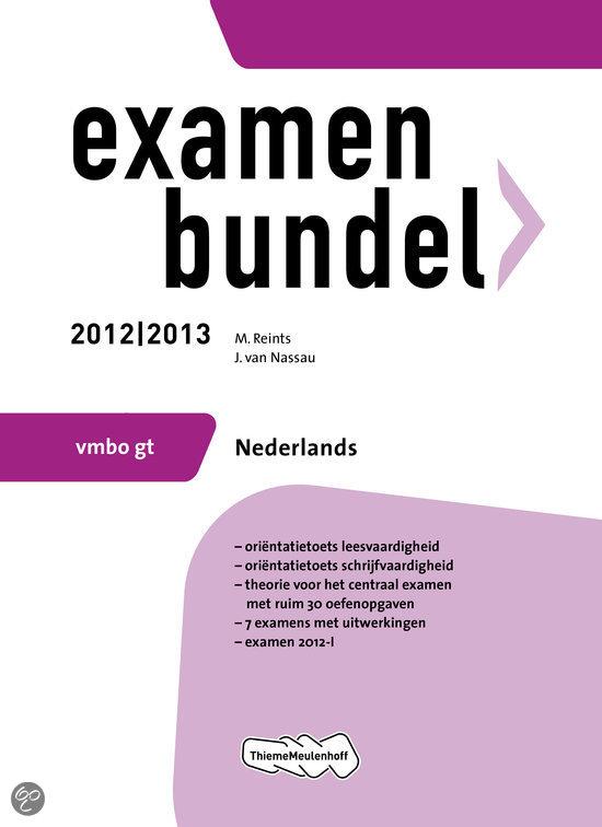 Examenbundel Nederlands - VMBO 2012/2013