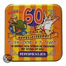 60 jaar man bol.| Pepermunt Blikje   60 jaar man (incl. 70 gram pepermunt  60 jaar man