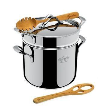 Lagostina Set La Pasta (Pastaiola, pastalepel, spaghetti dosseerder)