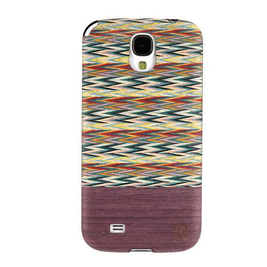 Man&Wood Houten  Design Cover Samsung Galaxy S4 i9505 - Viola Check (Black) in Harssens