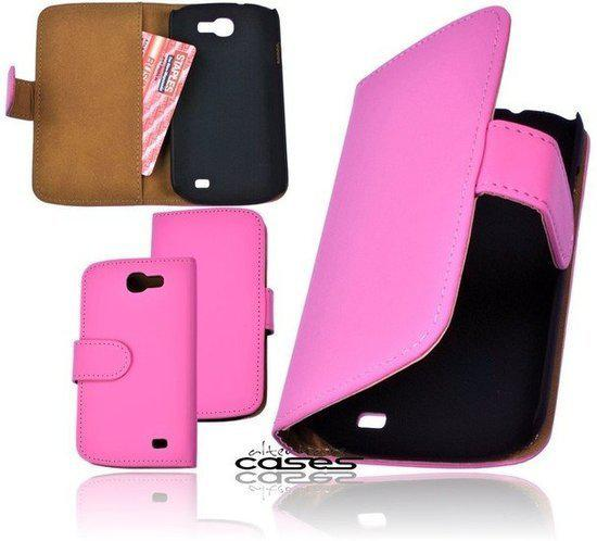 Alternate Book Case Style Cover Voor Samsung Galaxy Express i8730 Roze in Haskerhorne / Haskerhoarne
