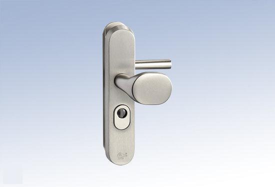 M & C Deurbeslag Aluminium anti kerntrek veiligheids deurbeslag skg*** N205506
