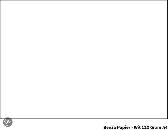 Benza - Gekleurd Printpapier Hobbykarton 120 Gram A4 - Wit - 100 stuks