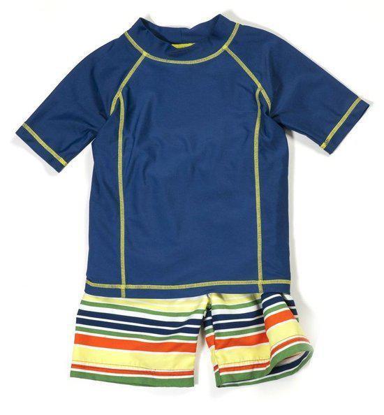 Cabana Life Zwemveiligheid UV badpak Multistripe    Maat 116cm
