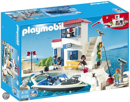 Bol Com Playmobil Havenpolitie Met Speedboot 5128