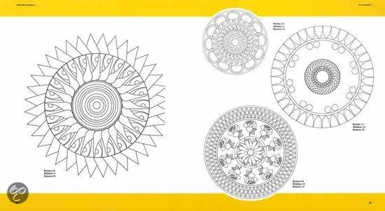 1.000.000 mandala's om te ontwerpen, te printen en in te kleuren