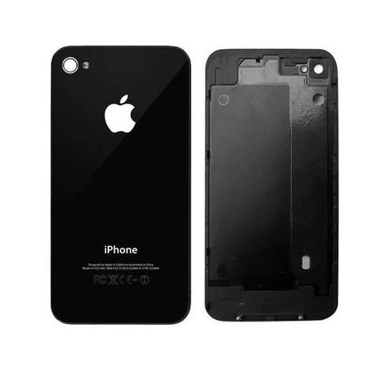 iphone 4 achterkant back cover zwart. Black Bedroom Furniture Sets. Home Design Ideas