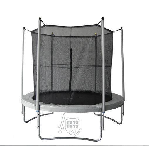 thystoys vangnet trampoline 180 cm grijs ridder. Black Bedroom Furniture Sets. Home Design Ideas