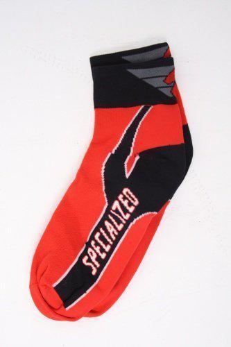 Specialized Coolmax sokken rood zwart maat s