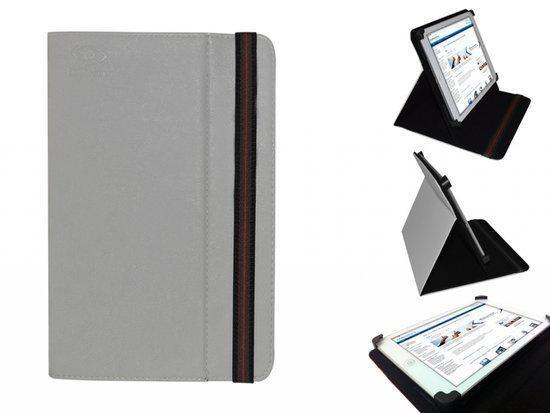 Hoes voor de Haier Pad Mini D85, Multi-stand Cover, Ideale Tablet Case, Grijs, merk i12Cover in Scharneburen